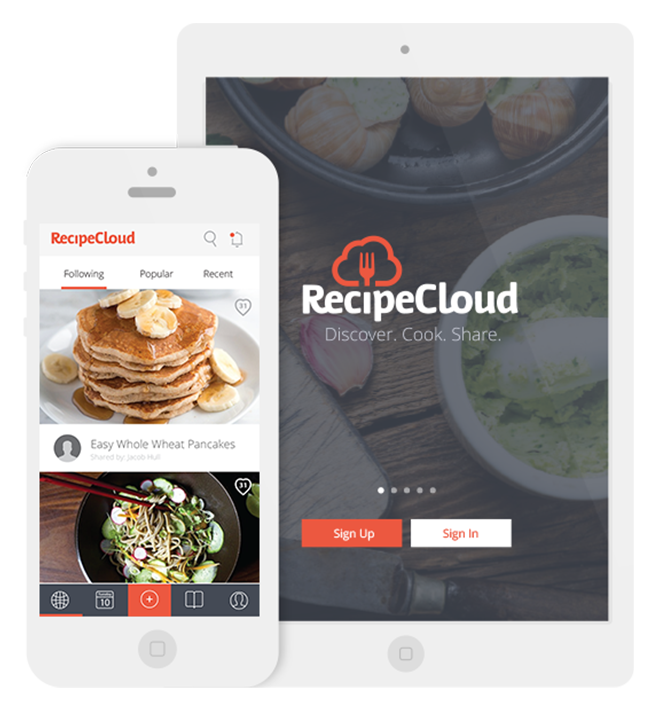 Recipe Cloud iOS Mockups